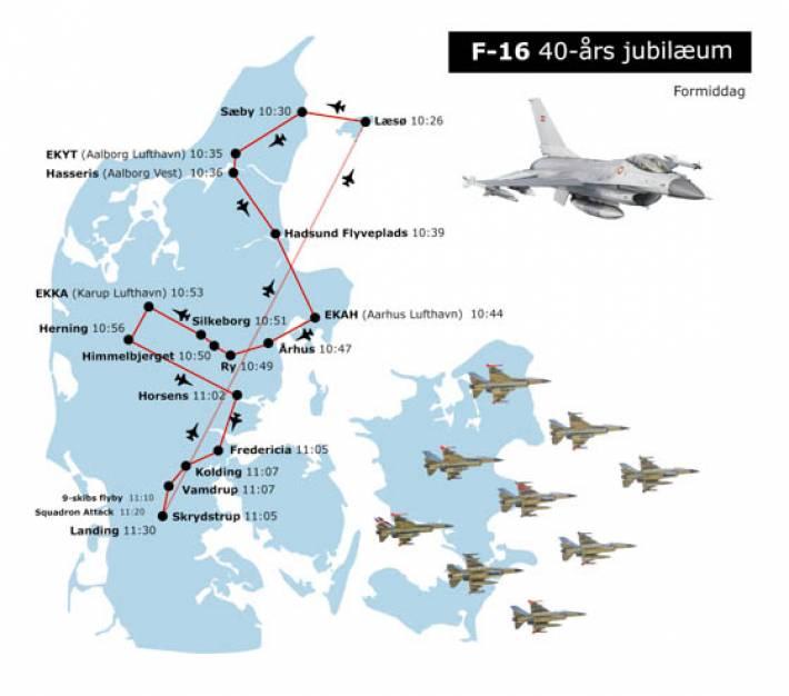 Kig Til Vejrs Kampfly Flyver I Formation Over Danmark